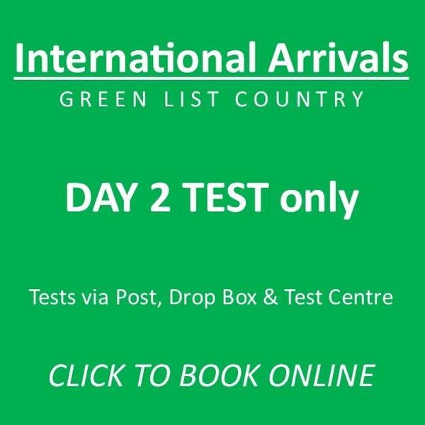 Day 2 GREEN LIST International Arrivals Test (Mandatory) - FROM £45